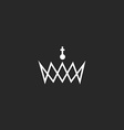 Royal crown monogram logo black and white mockup vector image vector image