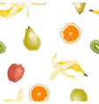 seamless fruit pattern vector image