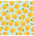 seamless pattern with summer lemons vector image vector image