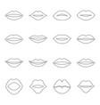 set contours lips vector image vector image
