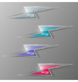 set glass lightning icon vector image vector image