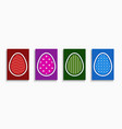 set happy easter colorful cards can vector image