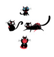 set kittens in different poses vector image vector image