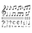 set music notes vector image vector image