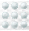 snowballs snow and ice spheres for winter vector image