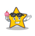 star character cartoon style with ice cream vector image vector image