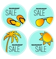 Summer sale stickers vector image