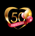 template gold logo 50 years anniversary vector image
