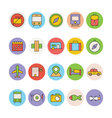 Travel Colored Icons 1 vector image vector image