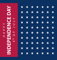 usa flag banner american independence day poster vector image