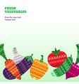 Vegetables Fresh horizontal vector image