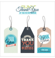 Vintage thank you labels vector image vector image