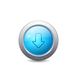 Web button with down arrow vector image vector image
