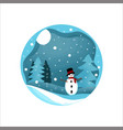 winter snow vector image