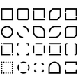 Set of Black And White Templates For Icon Frame vector image