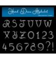 Hand Draw Alphabet 2 vector image
