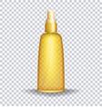 sun block lotion container sun care oil vector image
