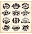 Vintage organic farming stamps set