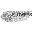 anniversary favors coffee or tea text word cloud vector image vector image