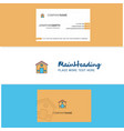 beautiful house logo and business card vertical vector image