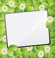 blank summar scratchpad vector image vector image