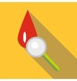 Blood icon flat style vector image vector image