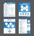 Blue Smart creative resume business profile CV vector image