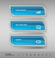 Business banners design elements for infographics vector image vector image