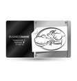 business card shoe repair vector image vector image