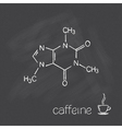 Caffeine vector image vector image