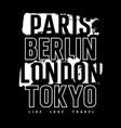 cities typography 008 vector image vector image