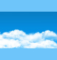 cloud sky background realistic white vector image vector image