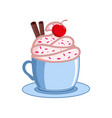 coffee with icecream coffee cups vector image vector image