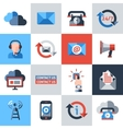Contact us icons set vector image vector image