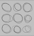 doodle sketched circles vector image