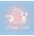 Easter white cute rabbit vector image vector image