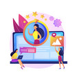 face recognition concept metaphor vector image vector image