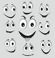facial expressions cartoon face emotions vector image vector image