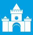fairytale castle icon white vector image vector image