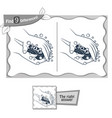 find 9 differences game soap vector image vector image