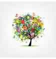 Floral tree summer for your design vector image vector image