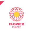 flower logo circle abstract design template tulip vector image