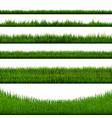 green grass border big collection vector image vector image