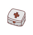 hand drawn first aid kit sketch colored vector image vector image