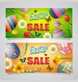 happy easter sale banner background vector image