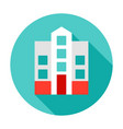 hospital building circle icon vector image