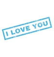 I Love You Rubber Stamp vector image vector image
