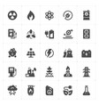 icon set - energy and power filled icon style vector image vector image