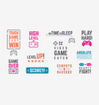 joystick quotes retro gamepad banners with vector image vector image