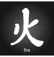 Kanji hieroglyph fire vector image vector image